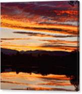 Wildfire Sunset 1v  Canvas Print