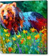 Wildflower Grizz II Canvas Print
