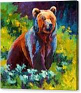 Wildflower Grizz Canvas Print