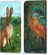 wildlife Quartet Canvas Print