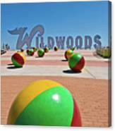 Wildwood's Sign, Wildwood, Nj Boardwalk . Copyright Aladdin Color Inc. Canvas Print