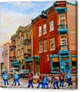 Wilensky's Street Hockey Game Canvas Print