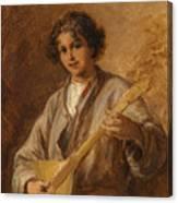 Wilhelm Amardus Beer, Portrait Of A Musician Boy Canvas Print