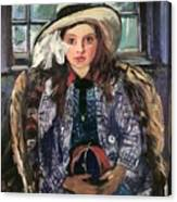 Wilhelmine With Ball 1915 Canvas Print