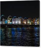 Willemstad Curacao At Night Canvas Print