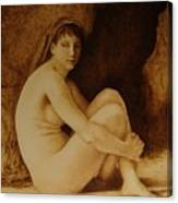 William Bouguereau Seated Nude  Canvas Print