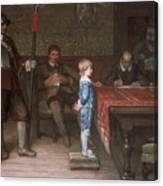 William Frederick Yeames - And When Did You Last See Your Father 1878 Canvas Print