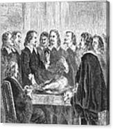 William Harvey Explaining Blood Canvas Print