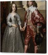 William II, Prince Of Orange, And His Bride, Mary Stuart Canvas Print
