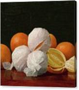William J. Mccloskey 1859 - 1941 Untitled Wrapped Oranges Canvas Print