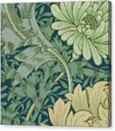 William Morris Wallpaper Sample With Chrysanthemum Canvas Print