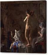 William Rush Carving His Allegorical Figure Canvas Print