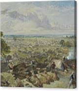 William Simpson, 1823-1899, Nilitary Camp Canvas Print
