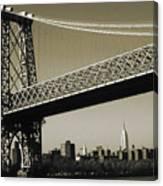 Old New York Photo - Williamsburg Bridge Canvas Print