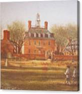 Williamsburg Governors Palace Canvas Print