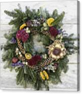 Williamsburg Wreath 10b Canvas Print