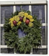 Williamsburg Wreath 25 Canvas Print