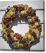 Williamsburg Wreath 29 Canvas Print