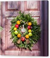 Williamsburg Wreath 53 Canvas Print
