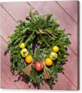 Williamsburg Wreath 54 Canvas Print