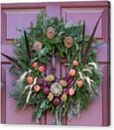 Williamsburg Wreath 92 Canvas Print