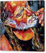 Willie Nelson Booger Red Canvas Print