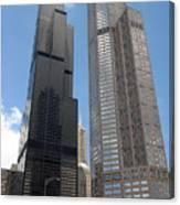 Willis Tower Aka Sears Tower And 311 South Wacker Drive Canvas Print