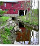Williston Mill Reflections Canvas Print