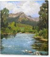 Willow Grove On The Blue River Canvas Print