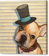 Willy In A Top Hat Canvas Print