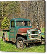 Willys Jeep Pickup Truck Canvas Print
