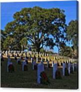 Wilmington National Cemetery Christmas Canvas Print