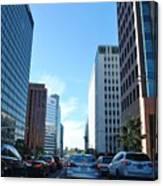 Wilshire Blvd  - West La Traffic Canvas Print