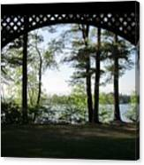 Wilson Pond Framed Canvas Print