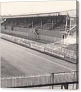 Wimbledon Fc - Plough Lane - South Stand 1 - Bw - 1969 Canvas Print