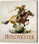 Winchester Horse And Rider  Canvas Print
