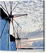 Wind Mills Of Mykonos Canvas Print