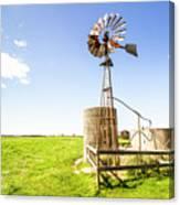 Wind Powered Farming Station Canvas Print