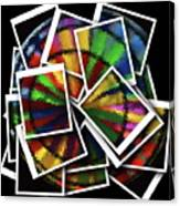 Wind Spinner Collage Canvas Print