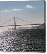 Wind Surfing Under The Bridge Canvas Print