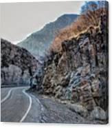 Winding Canyon Road Canvas Print