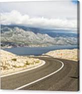Winding Road In Croatia Canvas Print