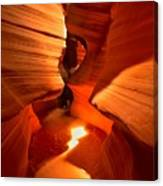 Winding Through Antelope Canyon Canvas Print