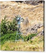 Windmill Aerator For Ponds And Lakes Canvas Print
