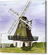 Windmill At City Beach Canvas Print