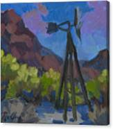 Windmill At Keys Ranch Joshua Tree Canvas Print