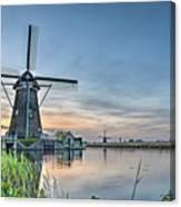 Windmill At Kinderdijk Canvas Print