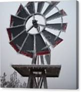 Windmill Frost Canvas Print