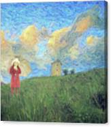 Windmill Girl Canvas Print