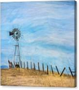 Windmill On The Hill Canvas Print